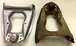 Control Arm Before & After In Natural Steel